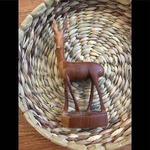 Handmade Gazelle Carving